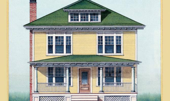 American Foursquare Architecture Interiors Restoration