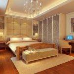 American Modern Bedroom Interior Design Rendering House