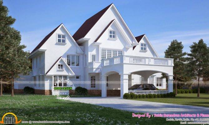 American Style House Kerala Home Design