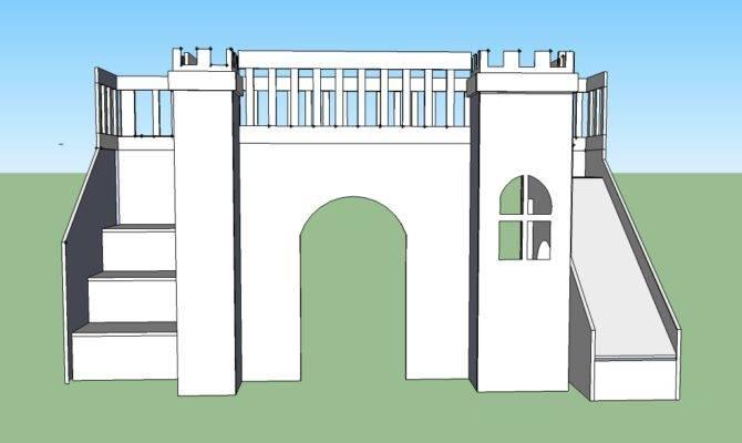 Ana White Build Castle Loft Bed Easy Diy Project Home Plans Blueprints 2051
