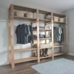 Ana White Industrial Style Wood Slat Closet System