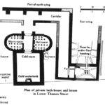 Ancient Roman Bath Houses Map Only East Wing Baths