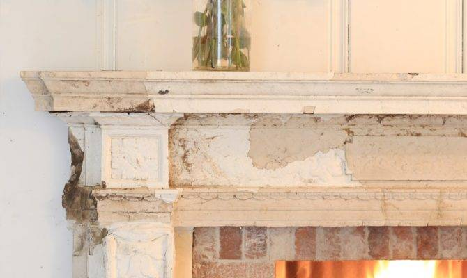Antique Fireplace Before After French Country Cottage