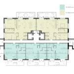 Apartment Building Exterior Complete Plans Unit Mid