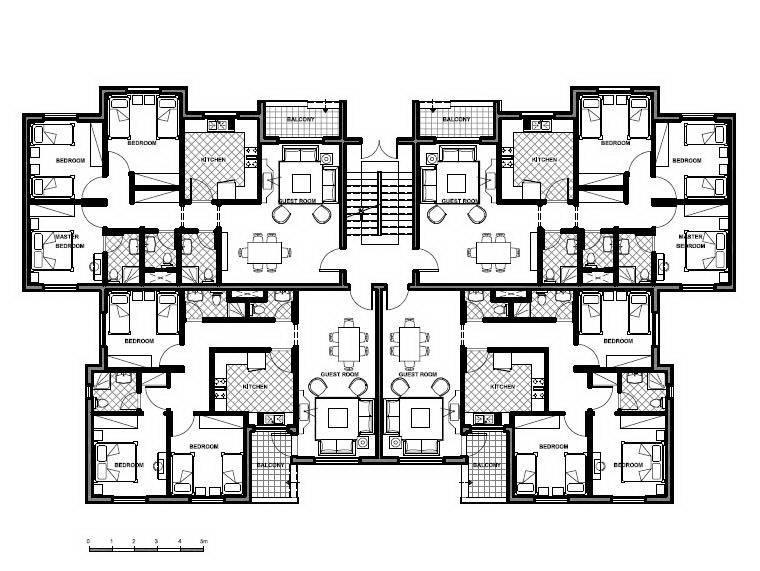 Apartment Building Plans Design