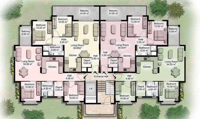 Apartment Building Plans Modern
