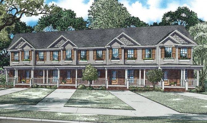 Apartment House Plans Living Units Two Story Design