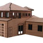 Architectural Model House Laser Cutting