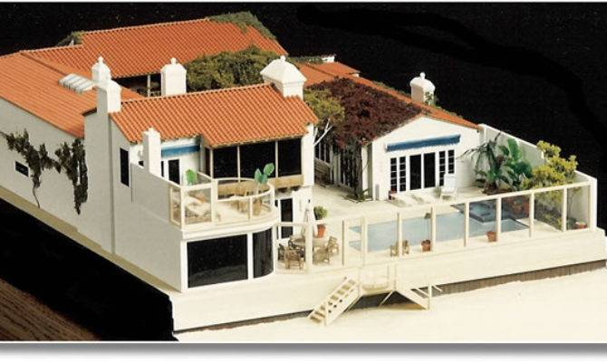 Architectural Model Miniature House Malibu California
