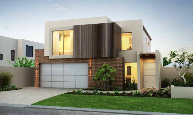 Architecture Modern House Facade Nice Garage