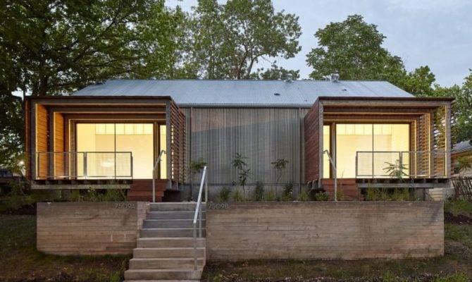 Architecture Students Build Modern Duplex Low Income