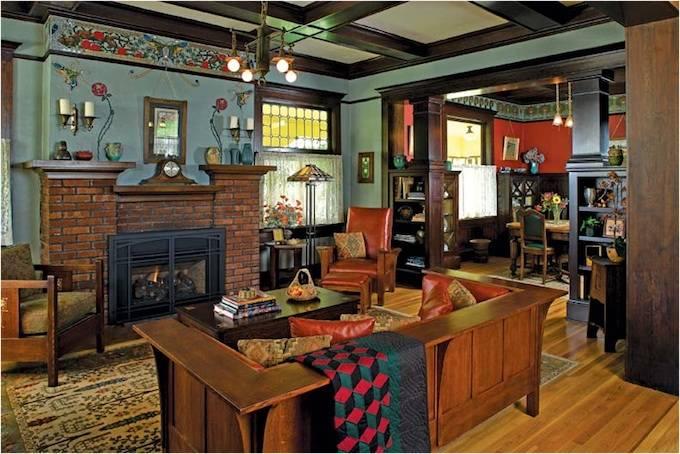 Arts Craft Interior Design Home Plans Blueprints 59101