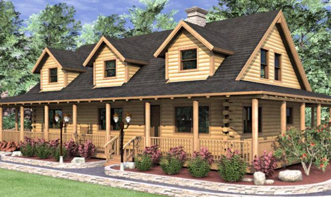 Ashley Log Home Floor Plan Bedroom Cape Style