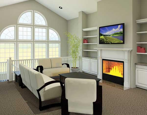 Atrium Ranch Home Plan Floor Master Suite