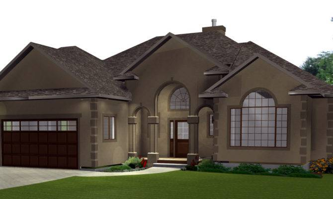 Attached Garage Bungalow House Plans Home Design Style