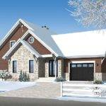 Attached Garage Our Popular Chalet Plan Drummond House Plans
