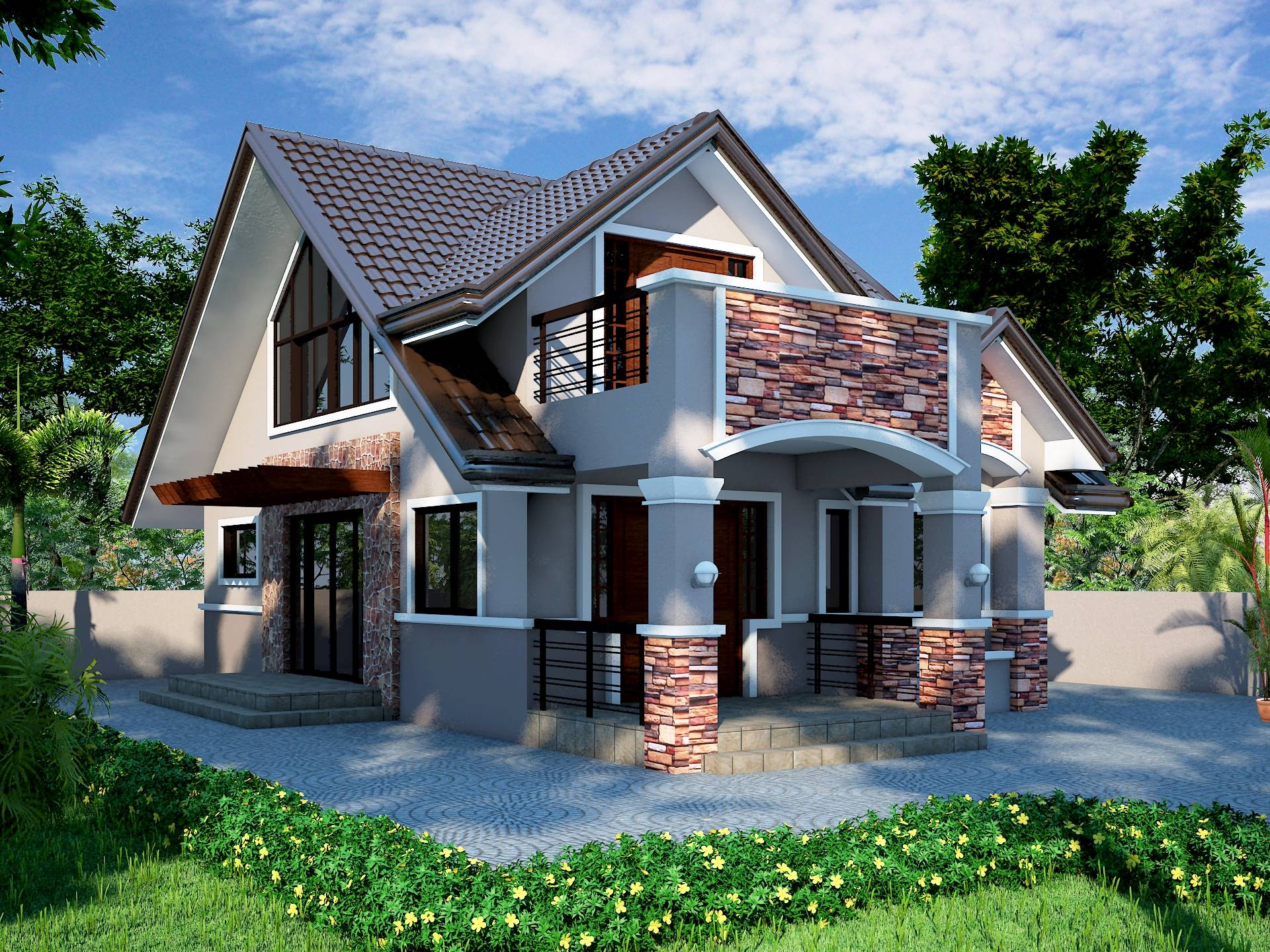 Attic Roof Design Philippines Pinterest Home Plans Blueprints 12466