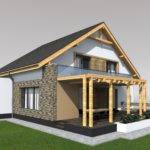 Attic Style House Design Square Meters