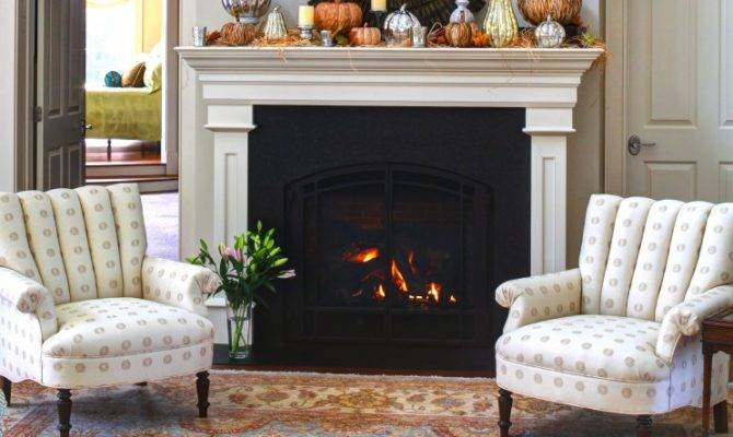 Autumn Fireplace Mantel Inspirations French Country
