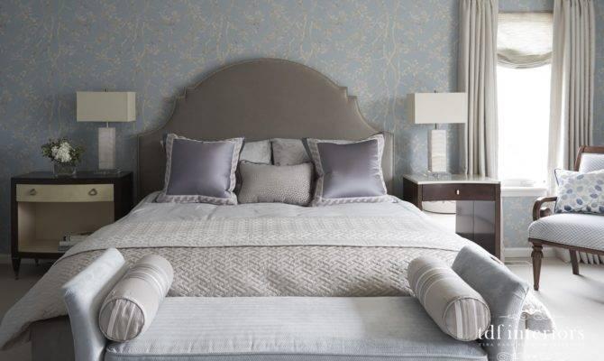 Award Winning Master Bedroom Design Pale Blue Lavender