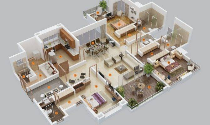 Awesome Bedroom Apartments Design Ideas House Plans