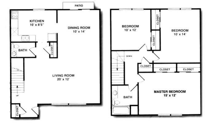 Awesome Bedroom Duplex Bath House Plans