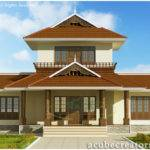 Awesome Bhk Kerala Home Elevation Plan Acube