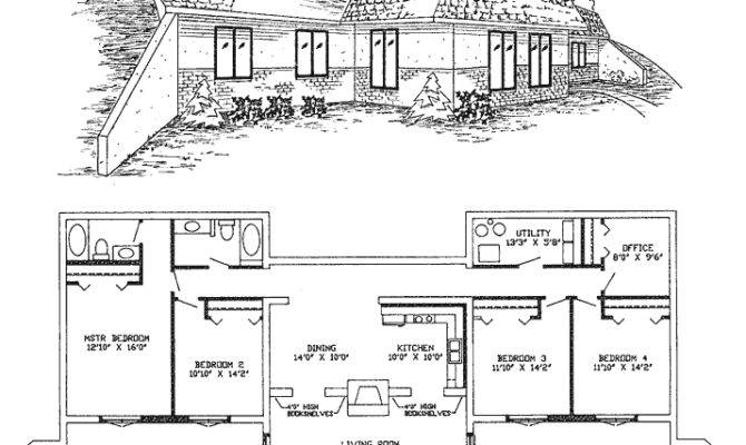 Awesome Earth House Plans Sheltered Home