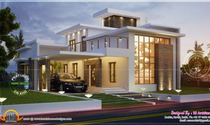 Awesome Feet Contemporary House Home Kerala Plans
