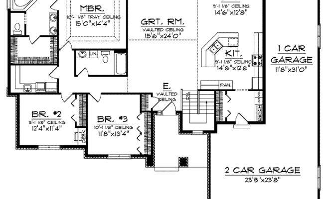 Awesome Garage Home Plans Ranch House Tandem