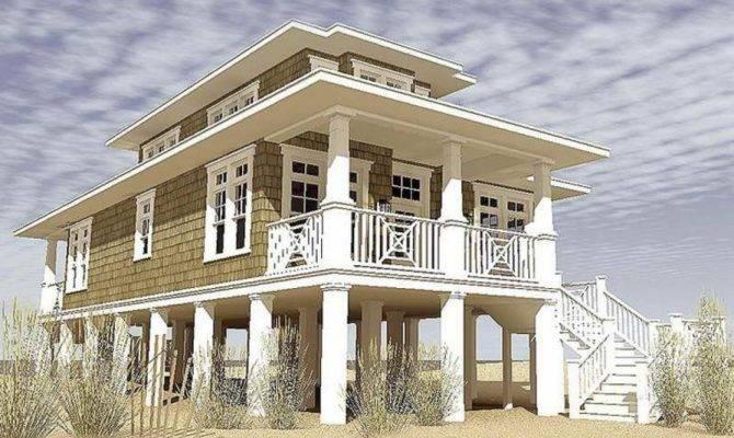 Awesome Narrow Lot Beach House Plans