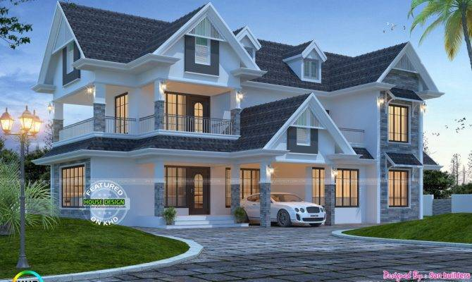 Awesome Western Style Home Kerala Design