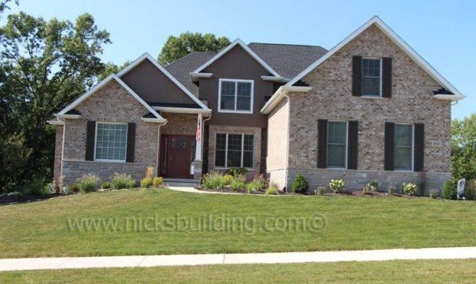 Back Brick Craftsman Style House