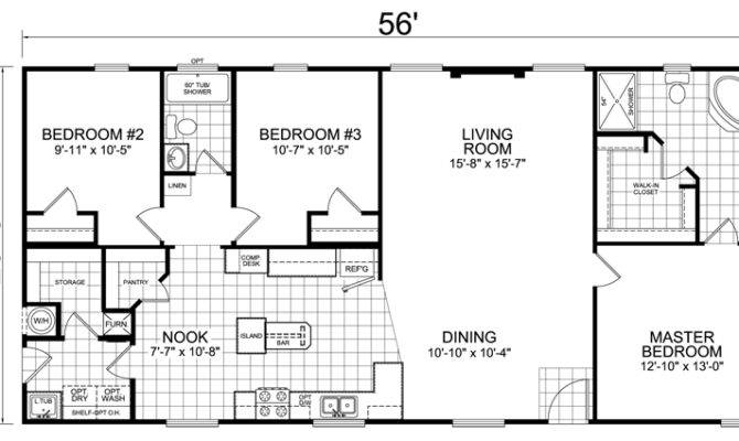 Back House Floor Plans Bedroom Bath