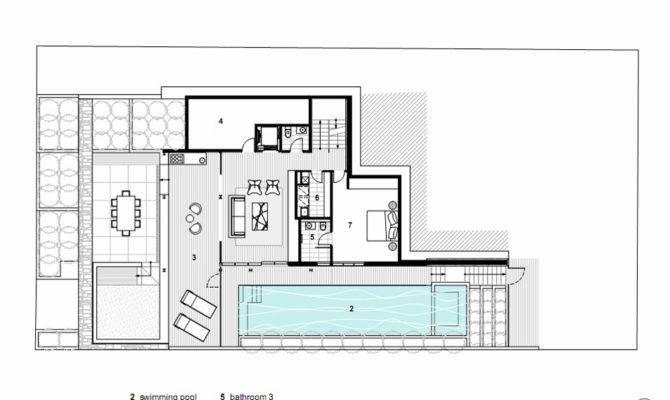 Back Modern House Open Floor Plans