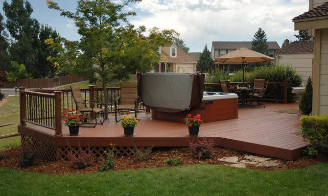 Back Post Wooden Patio Deck Ideas Backyard