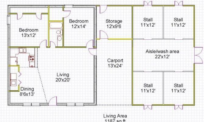 Barn Living Quarters Floor Plans