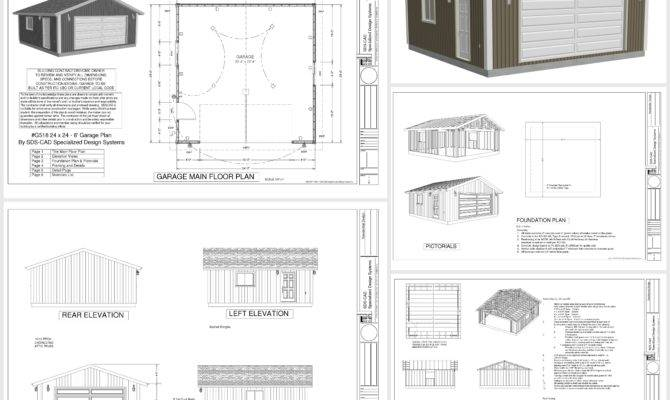 Barn Plans Standard Garage Plan Shed Cabin