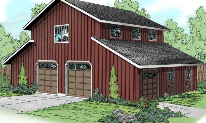 Barn Style Garage Rec Room Architectural