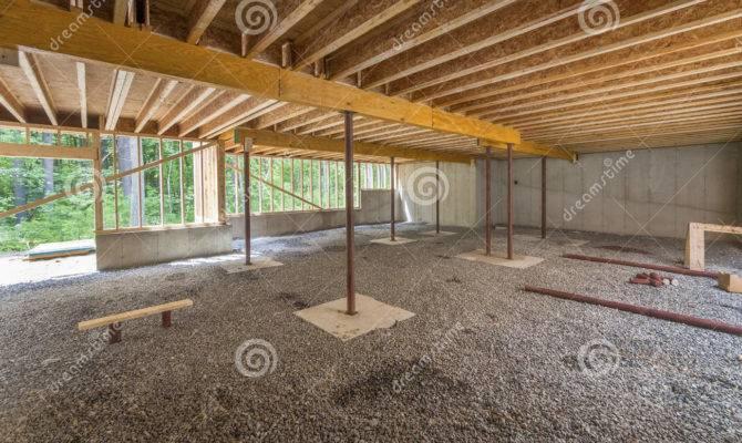 Basement Construction Under New House