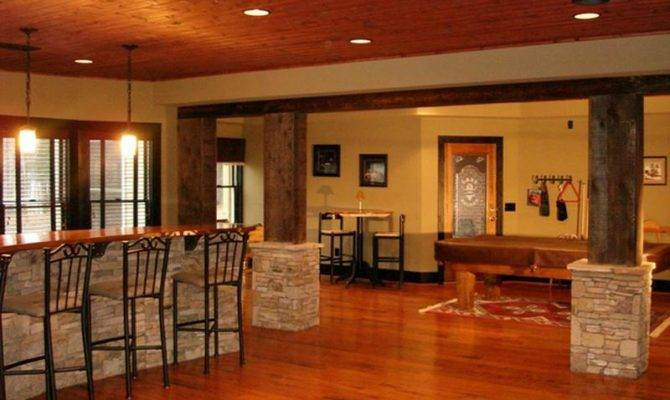 Basement Decorating Ideas Around Pole Home Interior Design