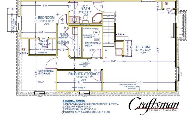 Basement Floor Plan Craftsman Finish Colorado Springs