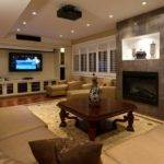 Basement Has Cool Fireplace Focal Point