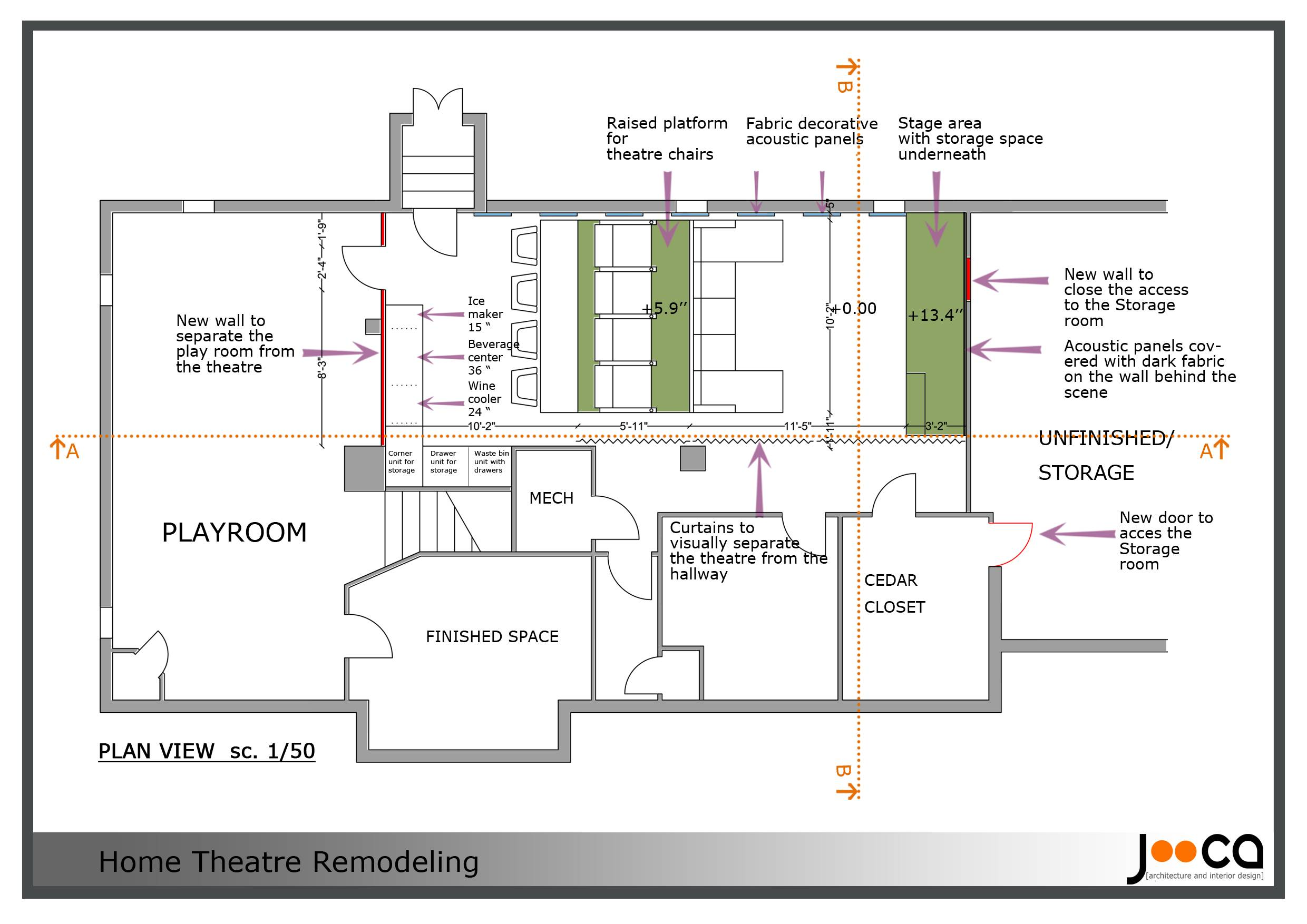Bat Home Theater Plans Theatre
