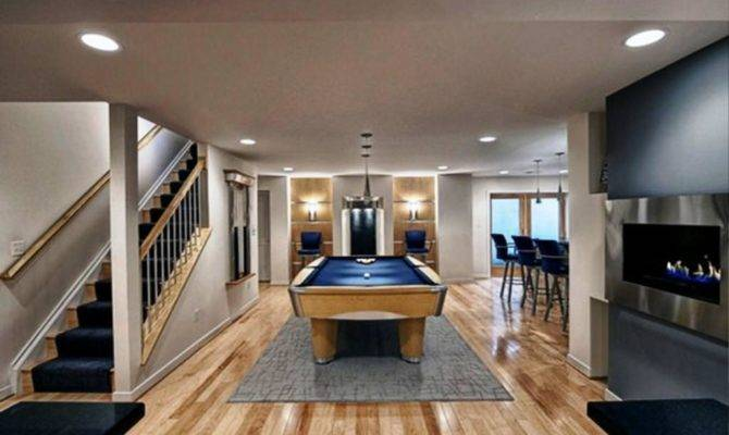 Basement Ideas Modern Finishing