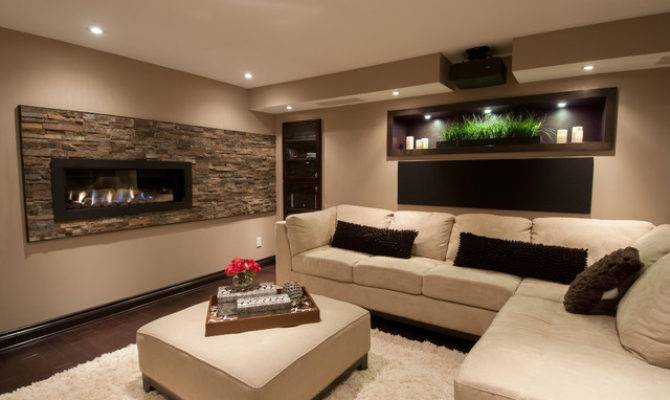 Basement Room Contemporary Ottawa