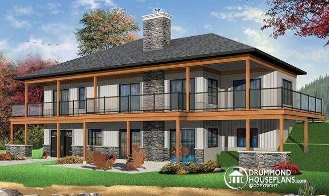 Basement Rooms House Plans Walkout Open
