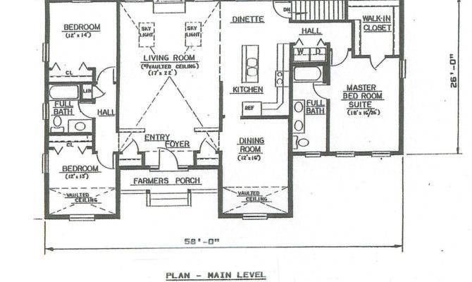 Bath Hip Roof Ranch Car Garage Under House Building Plans