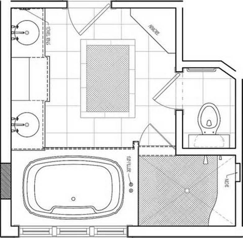 Bathroom Inspiring Floor Plans