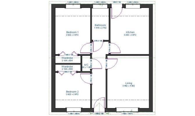 Bathroom Plus Walk Wardrobes Floor Plan